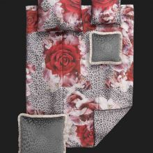 Tagesdecke Rose Leopard