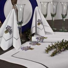 Tischwäsche Lavendelstrauß